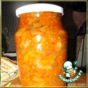 Рецепт: Баклажаны с овощами Галочкины