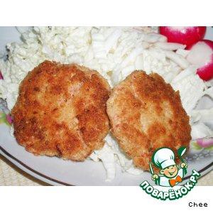 Рецепт: Рыбные котлеты с крабовыми палочками