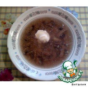 Рецепт: Легкий грибной суп