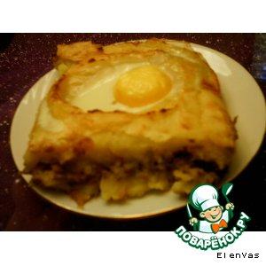 Рецепт: Картофельная запеканка Глазастая