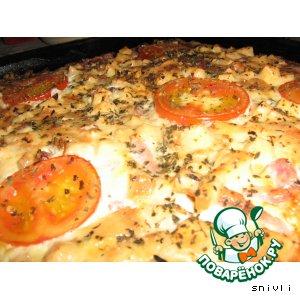 """Рецепт: Пицца """"Мафия"""""""