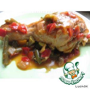 Рецепт: Куриные голени с овощами