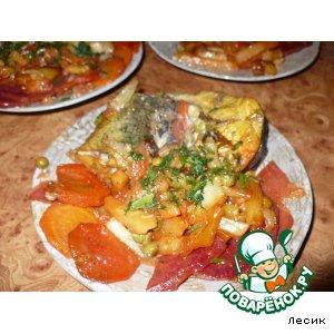 Рецепт: Рыба тушенная с овощами