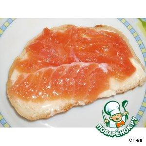 Рецепт: Соленая красная рыба за 2 часа