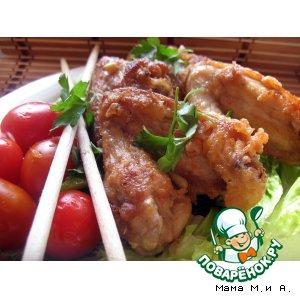 Рецепт: Куриные крылышки в кляре по-китайски