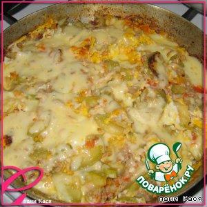 Рецепт: Запеканка из кабачков с мясом