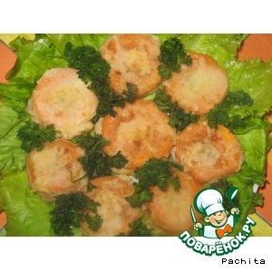 Рецепт: Морковь, фаршированная мясом, в кляре