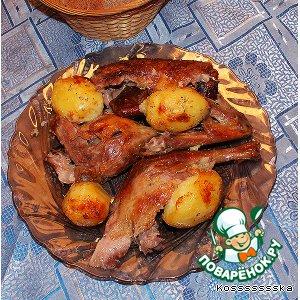 Рецепт: Утка с картофелем