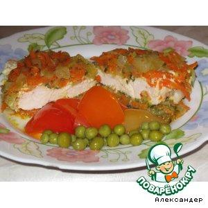 Рецепт: Куриная грудка с овощами