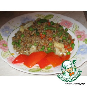 Рецепт: Пестрая гречневая кашка