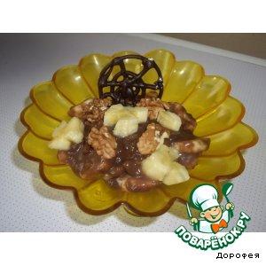 Рецепт: Бананы в конфетном креме с орешками