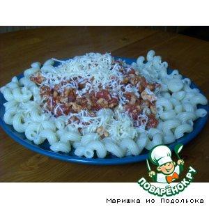 Рецепт: Макароны с соусом болоньезе
