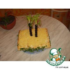 """Рецепт: Закусочный торт """"Оазис"""""""