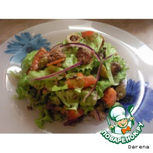 Рецепт: Пикантный салат из тунца