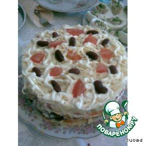 "Рецепт: Салат-торт ""Шедевр"""