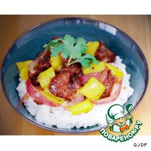 Рецепт: Свинина в кисло-сладком соусе