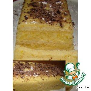 """Рецепт: Торт """"Ананасовое полено"""""""