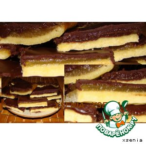 Рецепт: Печенье Яблочко в шоколаде