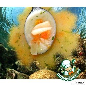 Рецепт: Супчик с кальмарами Подводное царство