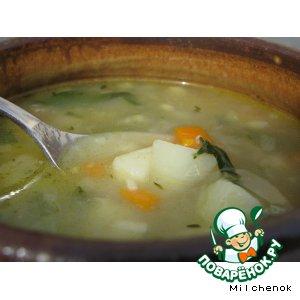 "Рецепт: Суп с клецками ""Зимнее блаженство"""