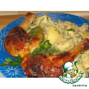 Рецепт: Курица «Укольная»