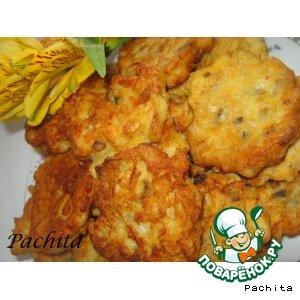 Рецепт: Рыбно-грибные оладьи