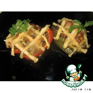 Рецепт: Запечeнный фаршированный перец Плетень