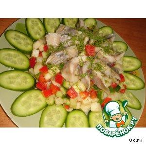 Рецепт: Салат Зеленый подсолнух