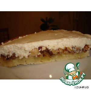 Рецепт: Медовый пирог с творогом и орехом