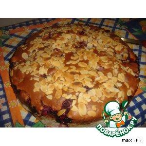 Рецепт: Пирог-болтушка с вишнями