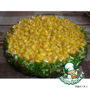 Рецепт: Салат слоеный с тунцом