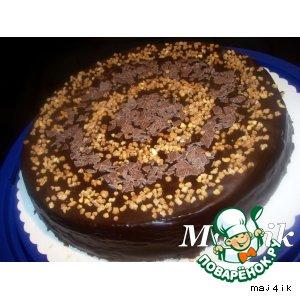 Рецепт: Торт шоколадно-медово-ореховый