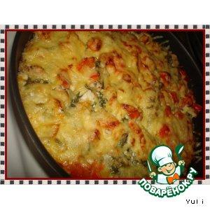 Рецепт Курочка в рисовой шубке с овощами