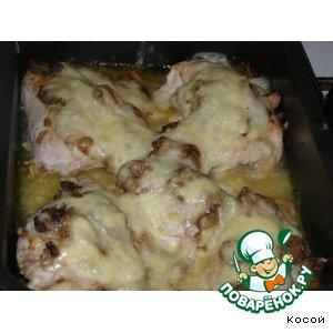 Рецепт: Курица с грибами