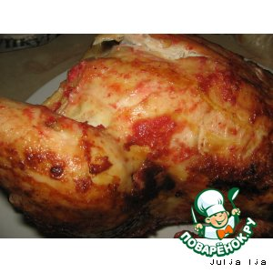Рецепт: Курица Гламур
