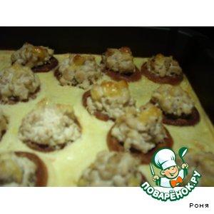 Рецепт: Фаршированные сушки в омлете