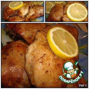 Рецепт: Курица в горчично-медовом соусе