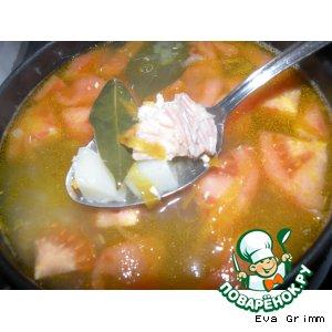 Рецепт: Ленивый рыбный суп