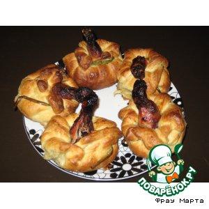 Рецепт: Пирожки с курицей