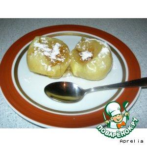 Рецепт: Быстрые печеные яблоки