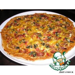 Рецепт: Пицца Три сосиски и компания
