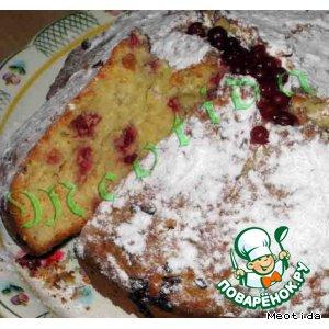 Рецепт: Кокосово-клюквенный пирог Осколки совести
