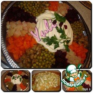 Рецепт: Салат Цветик-семицветик
