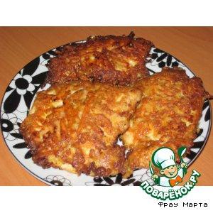 Рецепт: Куриный шницель с морковью