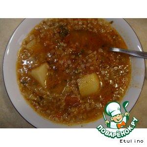 Рецепт: Суп гречнево-овощной