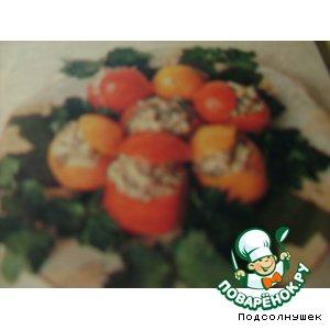 Рецепт: Помидоры фаршированные грибами