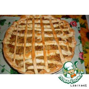 Рецепт: Пирог с кислой капустой