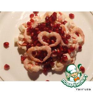 Рецепт: Салат из морепродуктов Дуэт