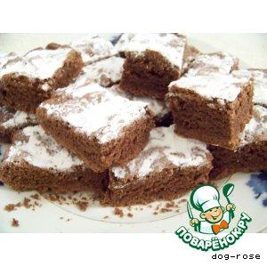Рецепт: Рассыпчатый шоколадный пирог