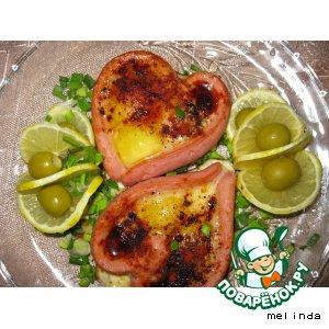 Рецепт: Яичница Валентинка